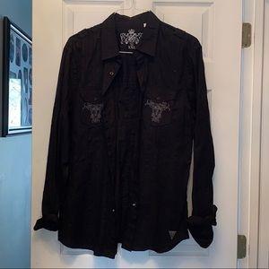 Men's Guess button up long sleeve shirt